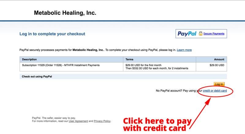 Paypal Checkout Choose Credit or Debit
